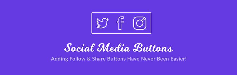 Botones para compartir y seguir en las redes sociales