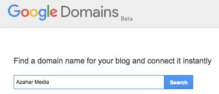 Blogger xüsusi domeni