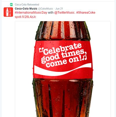 Ví dụ Tweet của Coca Cola 3