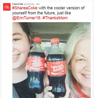 Ví dụ Tweet của Coca Cola 5