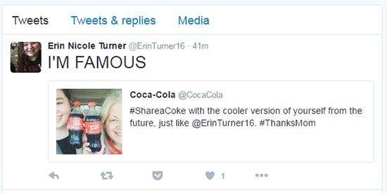 Ví dụ Tweet của Coca Cola 6