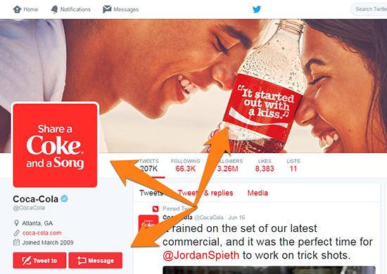 Ví dụ Tweet của Coca Cola 7
