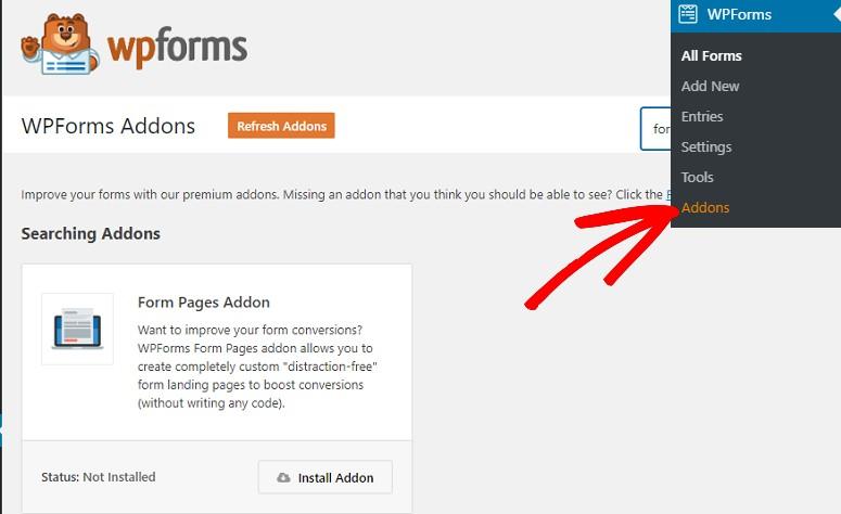 Complemento de páginas de formulario