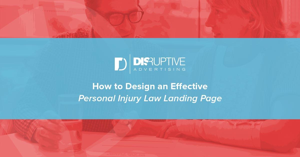 Cómo diseñar una página de aterrizaje efectiva de lesiones personales »Wiki Ùtil Publicidad disruptiva