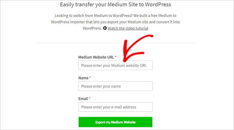 Herramienta mediana a WordPress