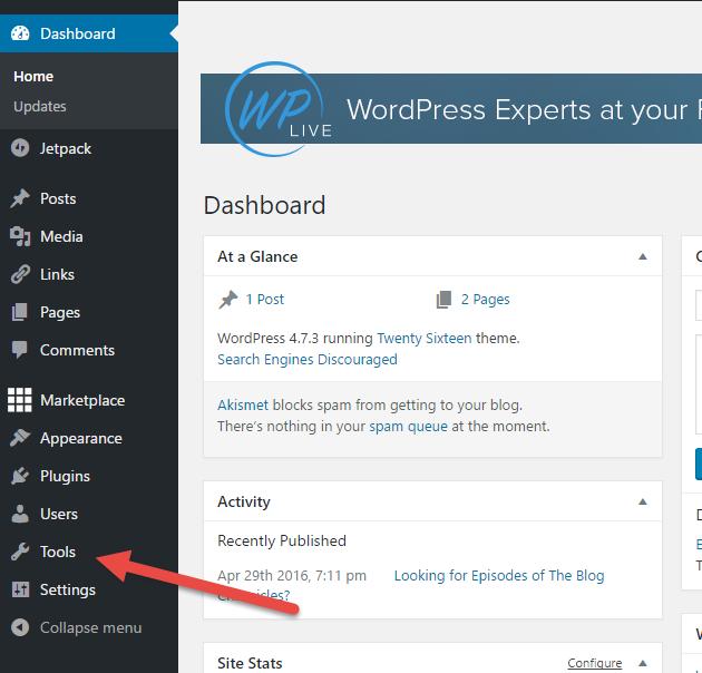 Blogger a WordPress
