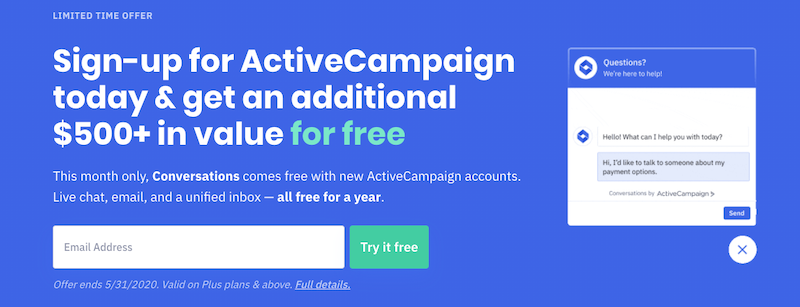 Complemento de WordPress de Activecampaign