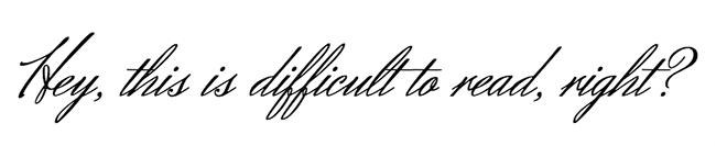 Tipografía difícil de leer