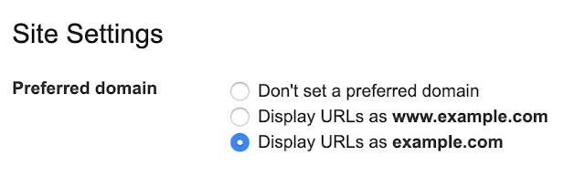 Configuraciones de dominio preferidas