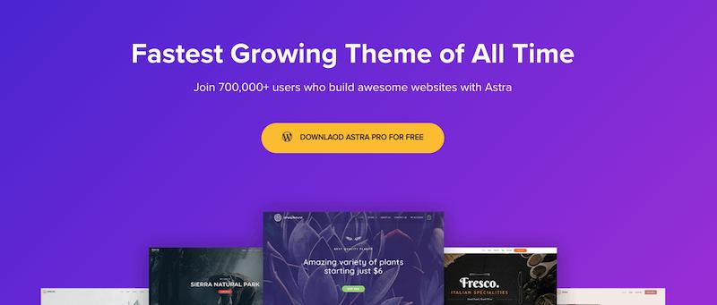 Astra, uno de nuestros temas favoritos para revisar sitios web