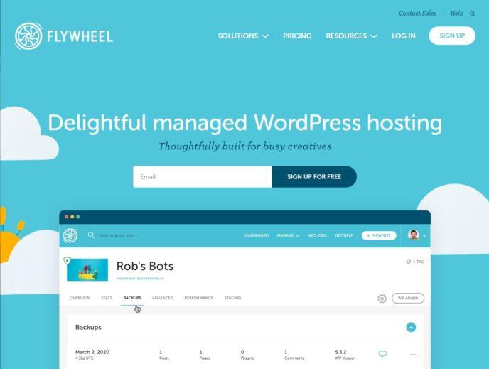 Página de Flywheel