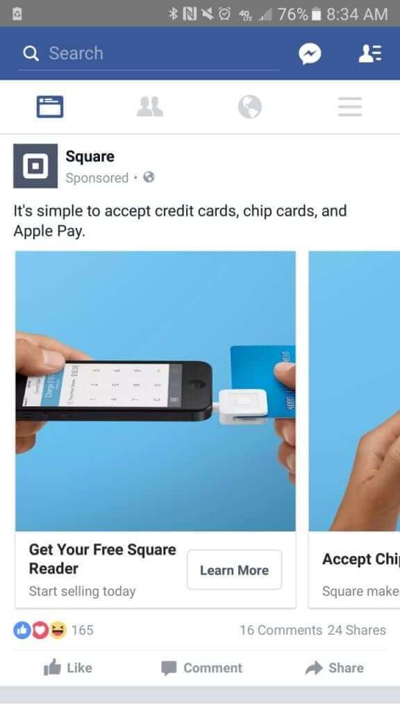 Facebook  Anuncio - cuadrado