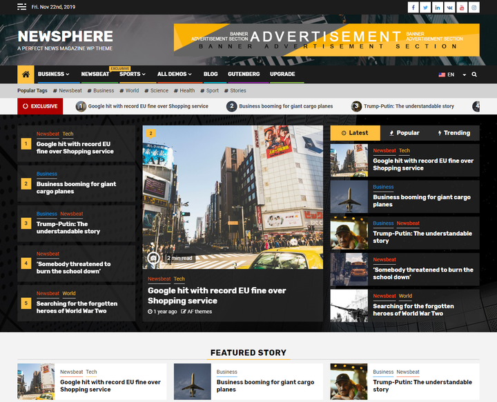 Newsphere Free Responsive Theme Theme