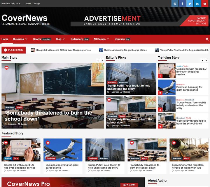Tema de WordPress Responsive gratuito de CoverNews