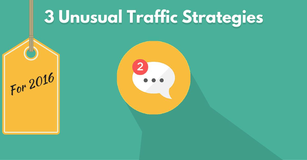 Estrategias de tráfico inusuales