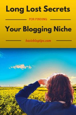 Secretos perdidos durante mucho tiempo para encontrar su nicho de blogs