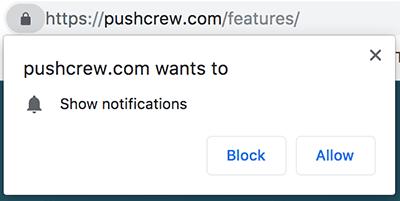 Mostrar notificaciones bloquear o permitir