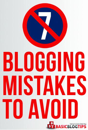 7 errores principales de blogs para evitar