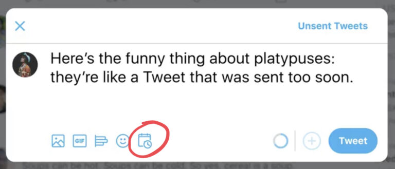 Twitter  Permite a los usuarios programar tweets por adelantado