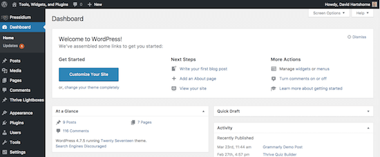 WordPress.org tablosuna
