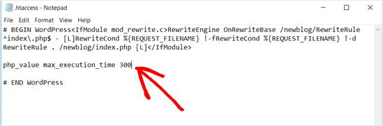 Agregar código al archivo .htaccess WordPress