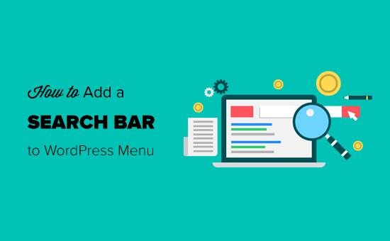 Agregar una barra de búsqueda al menú de WordPress