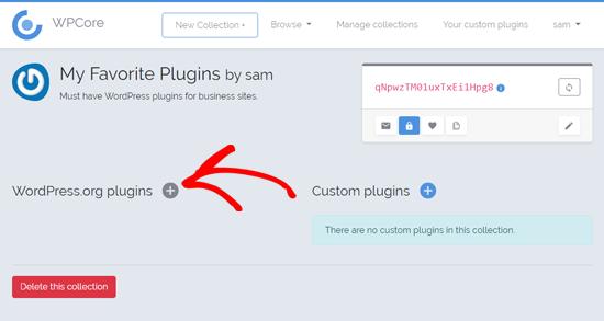 Thêm plugin trong bộ sưu tập plugin của bạn trong WPCore