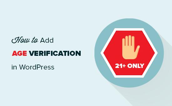 Agregar verificación de edad a un sitio web de WordPress