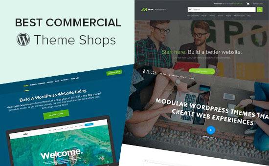Las mejores tiendas de temas comerciales de WordPress
