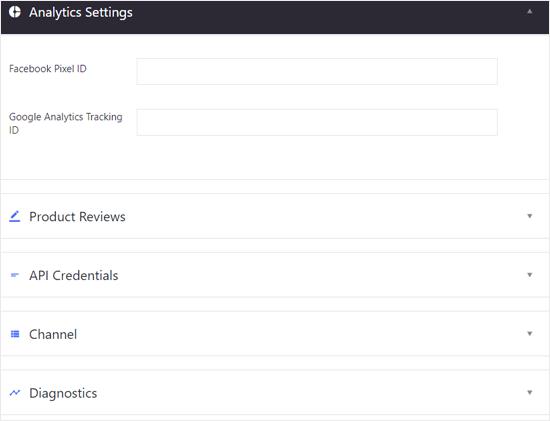 BIgCommerce para WordPress Analytics y otras configuraciones