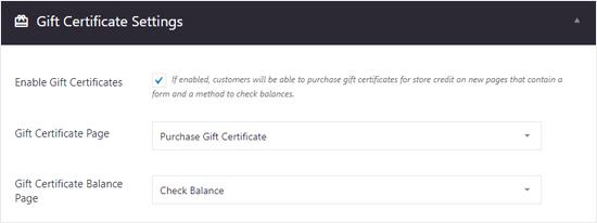 Configuración de certificados de regalo de BigCommerce para WordPress