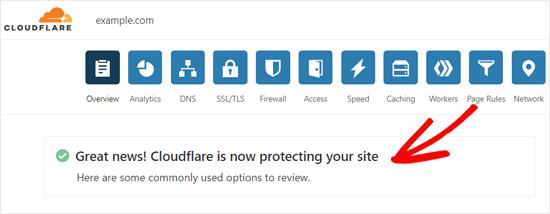 Cloudflare müvəffəqiyyət mesajını aktivləşdirdi