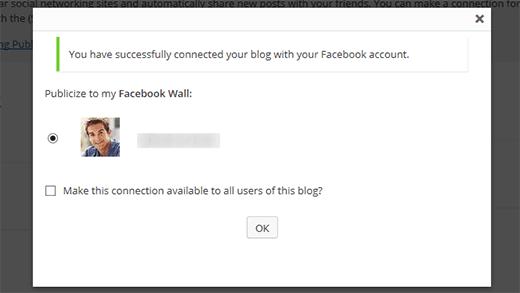 Conectado a Facebook
