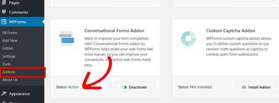 Aktiv WPForms Conversational Forms plugin