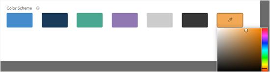 Wählen Sie ein Farbschema für Ihre Konversationsformularseite