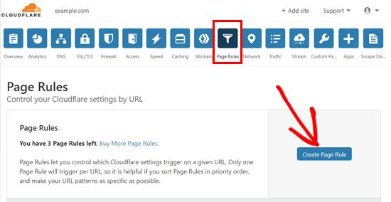 Cloudflare-də səhifə qaydası yaradın