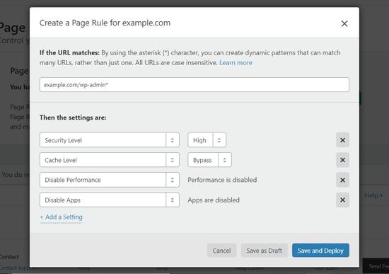 Cloudflare-də WordPress tablosunu qorumaq üçün səhifə qaydası yaradın