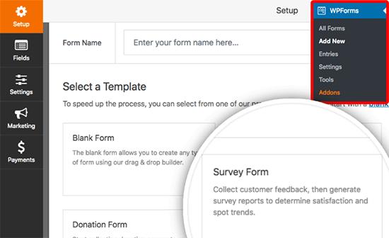 Crea un formulario de encuesta