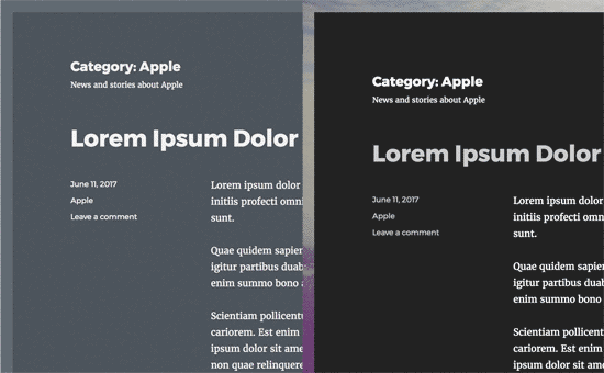 Cambiar el estilo de categoría usando CSS