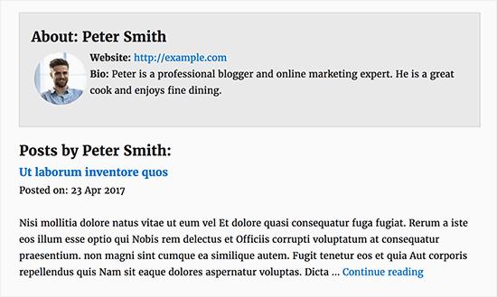 Una página de perfil de autor personalizada en WordPress