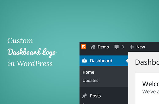 Logotipo de tablero personalizado en WordPress
