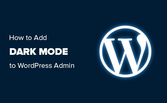Agregar modo oscuro al área de administración de WordPress
