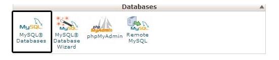 Biểu tượng cơ sở dữ liệu trong cPanel