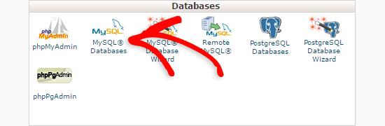 Phần cơ sở dữ liệu trong cpanel