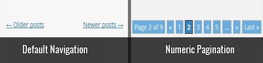 WordPress standart naviqasiya və nömrə paginasiyası arasındakı fərq