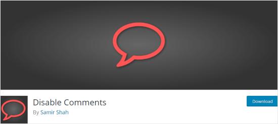 Desactivar complemento de comentarios