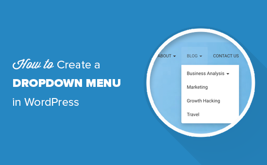 Crear un menú desplegable en WordPress