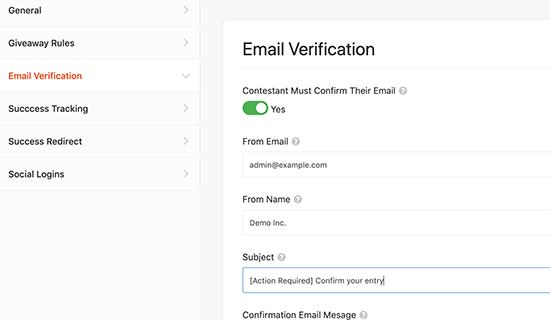 Verificacion de email