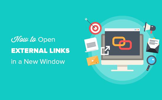 Cómo abrir enlaces externos en una nueva ventana