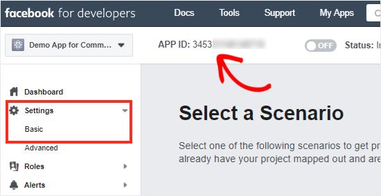 Facebook  Tablero de aplicaciones